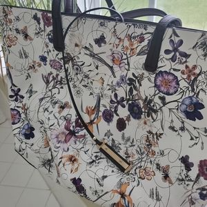 Blooms tote shopper bag with gold hardware